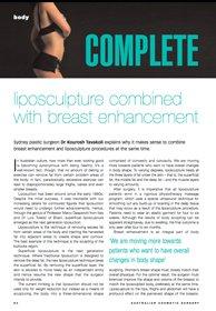 Breast augmentation performed by Dr Kourosh Tavakoli in the media.