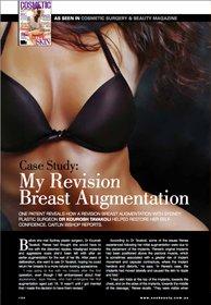 Breast augmentation procedure performed by Dr Kourosh Tavakoli in the media.