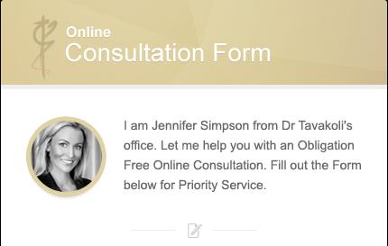 Online Consultation Form for Dr Kourosh Tavakoli